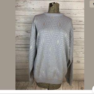 Vintage protege textured grandpa sweater